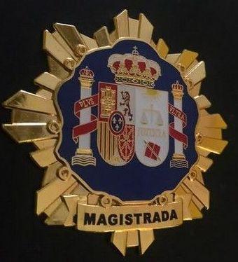 PLACA INSIGNIA METALICA DE MAGISTRADA