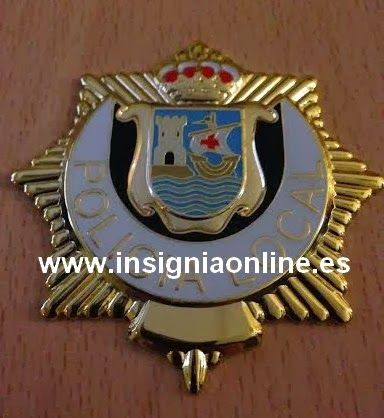 PLACA INSIGNIA POLICIA LOCAL CANTABRA