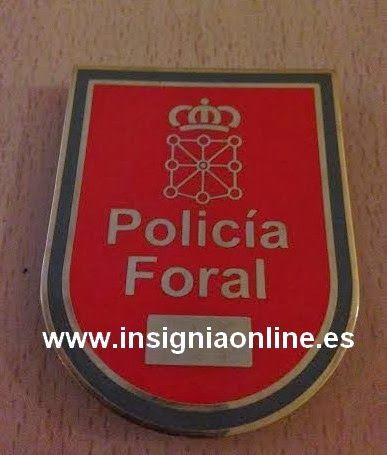 PLACA INSIGNIA POLICIA FORAL DE NAVARRA