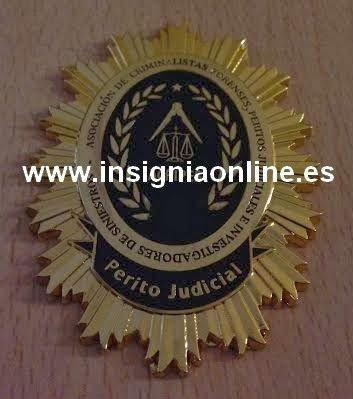 PLACA INSIGNIA ASOCIACION PERITO JUDICIAL