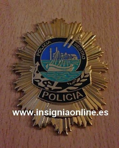 PLACA INSIGNIA POLICIA LOCAL SESTAO