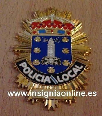 PLACA INSIGNIA POLICIA LOCAL A CORUÑA