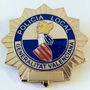 PLACA INSIGNIA DE LA POLICIA DE LA GENERALITAT VALENCIANA