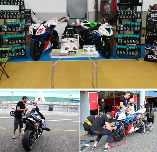 Preparación de motos de competición