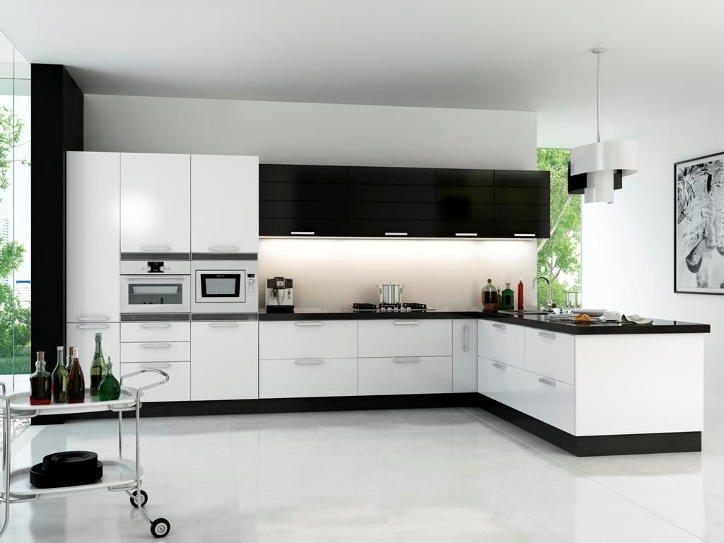 Cocina modelo Iris blanca y negra