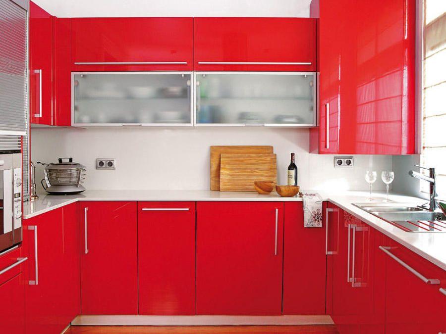 Cocina modelo Iris 5 rojo