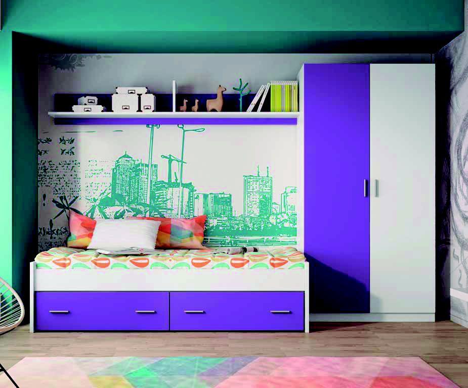 Dormitorio juvenil modelo Roma
