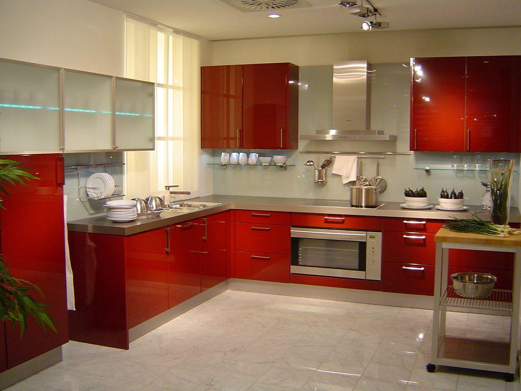 Cocina modelo Deluxe rojo