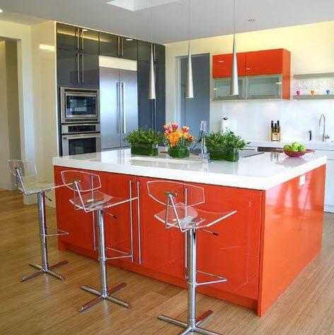 Cocina modelo Iris 5 naranja marengo