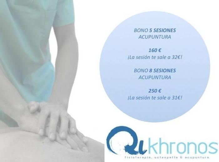Bonos acupuntura : Tratamientos de Qikhronos - Fisioterapia, Osteopatía y Acupuntura