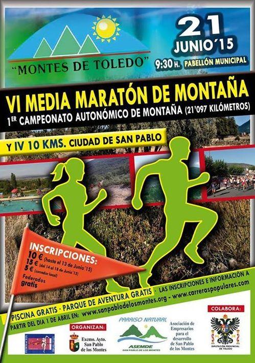VI Media Maraton Montes de Toledo IV 10 Km San Pablo I - 21 Junio 2015