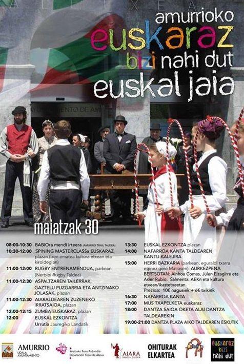 EUSKAL JAIA - EUSKARAZ BIZI NAHI DUT - 30 MAYO 2015