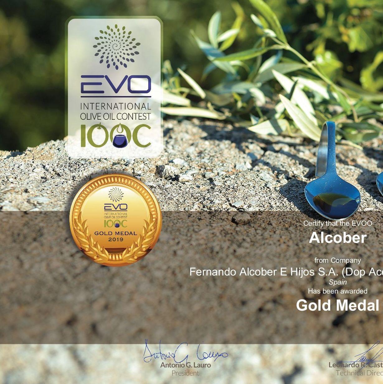 Medalla de Oro en el Certamen EVO IOOC