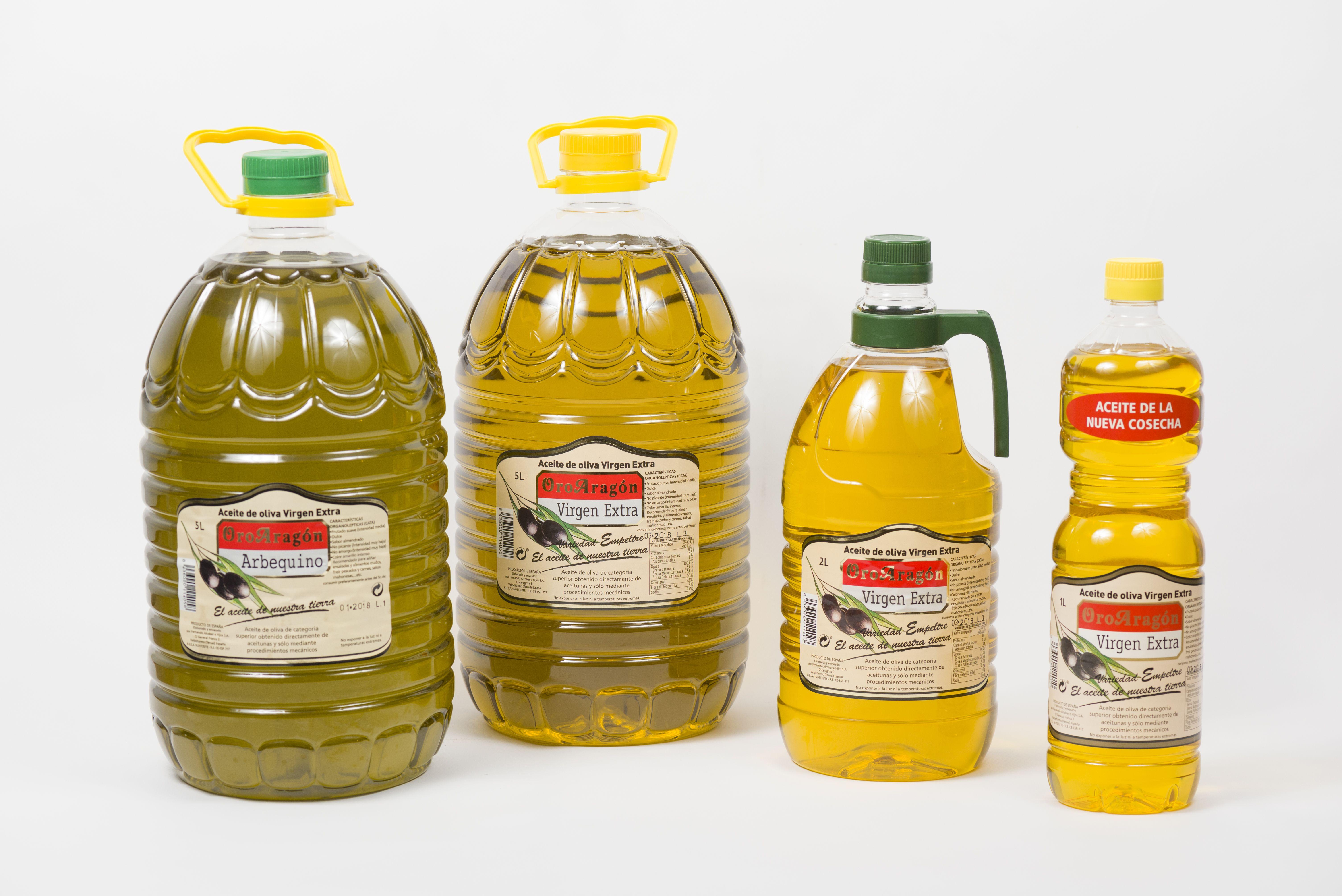 Aceites en envases variados