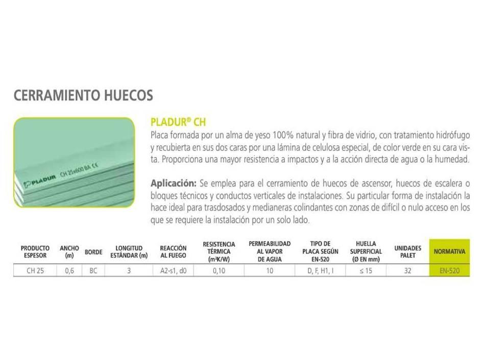 Pladur CH: Materiales - Distribuciones de AISLAMIENTOS LORSAN