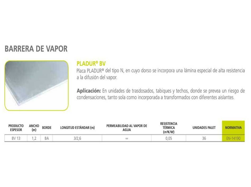 Pladur BV: Materiales - Distribuciones de AISLAMIENTOS LORSAN
