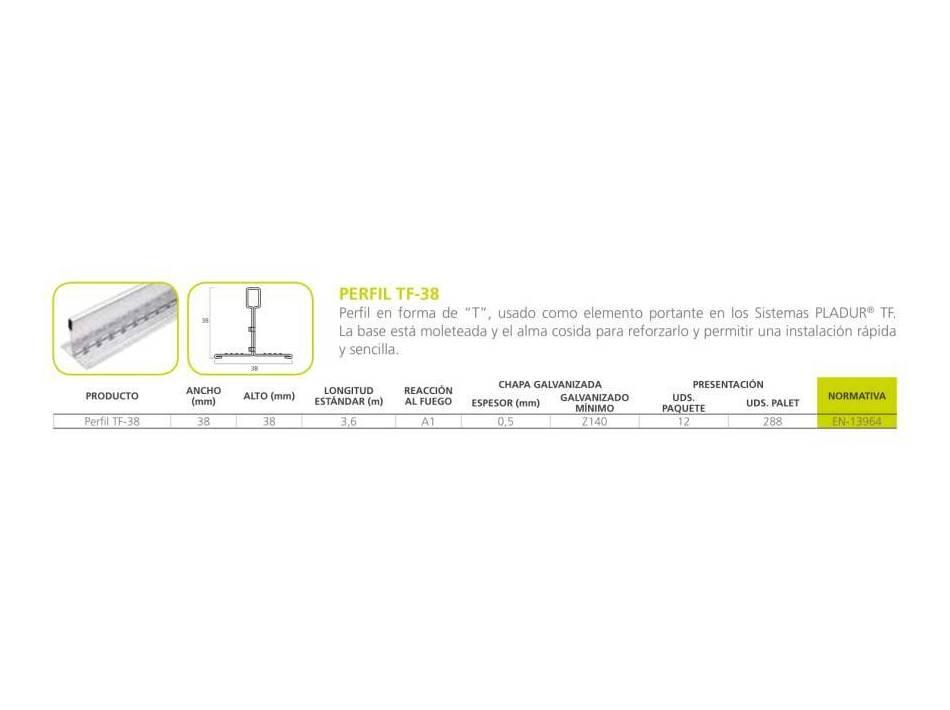 Perfil TF-38: Materiales - Distribuciones de AISLAMIENTOS LORSAN