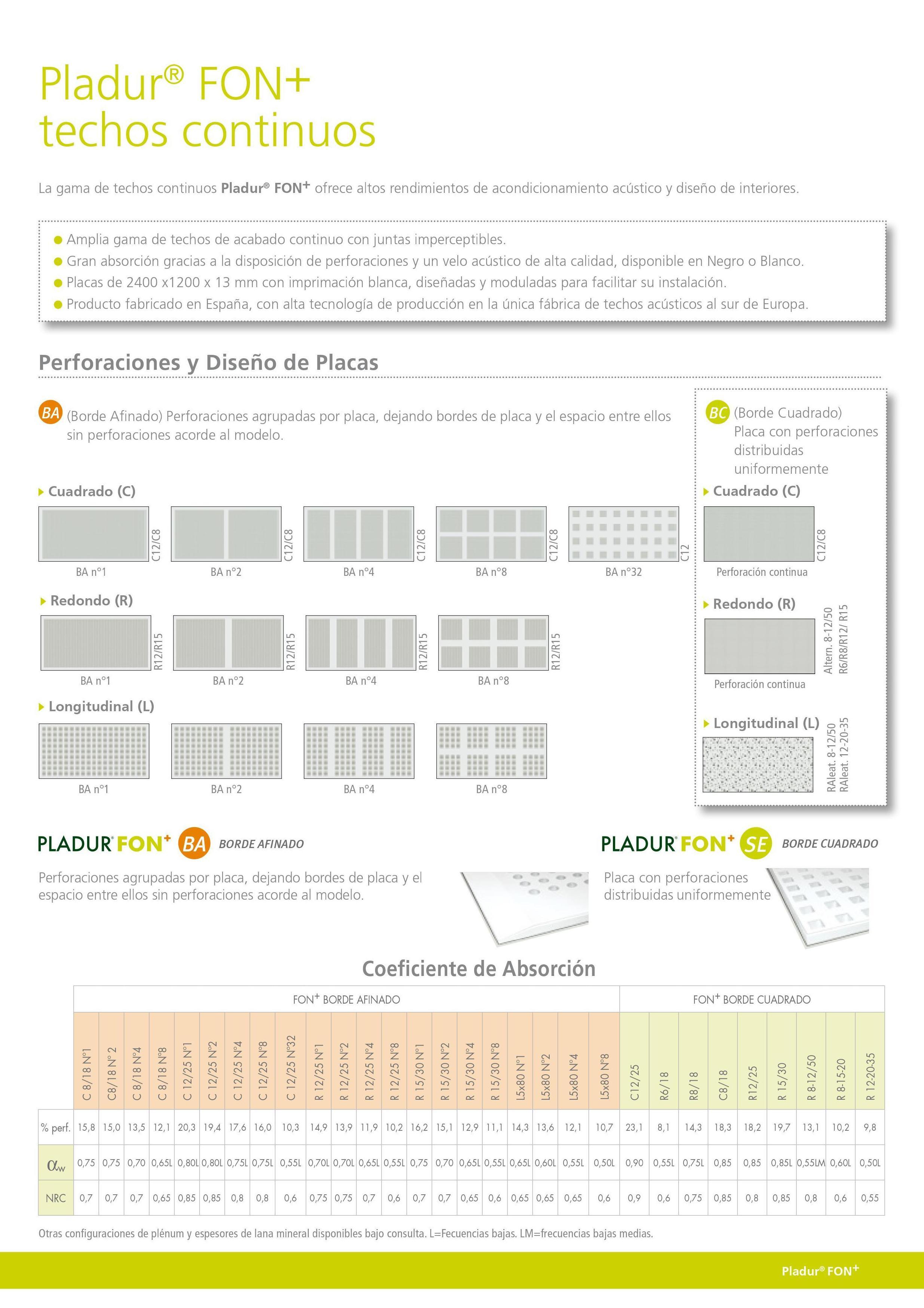 Pladur Fon+: Materiales - Distribuciones de AISLAMIENTOS LORSAN