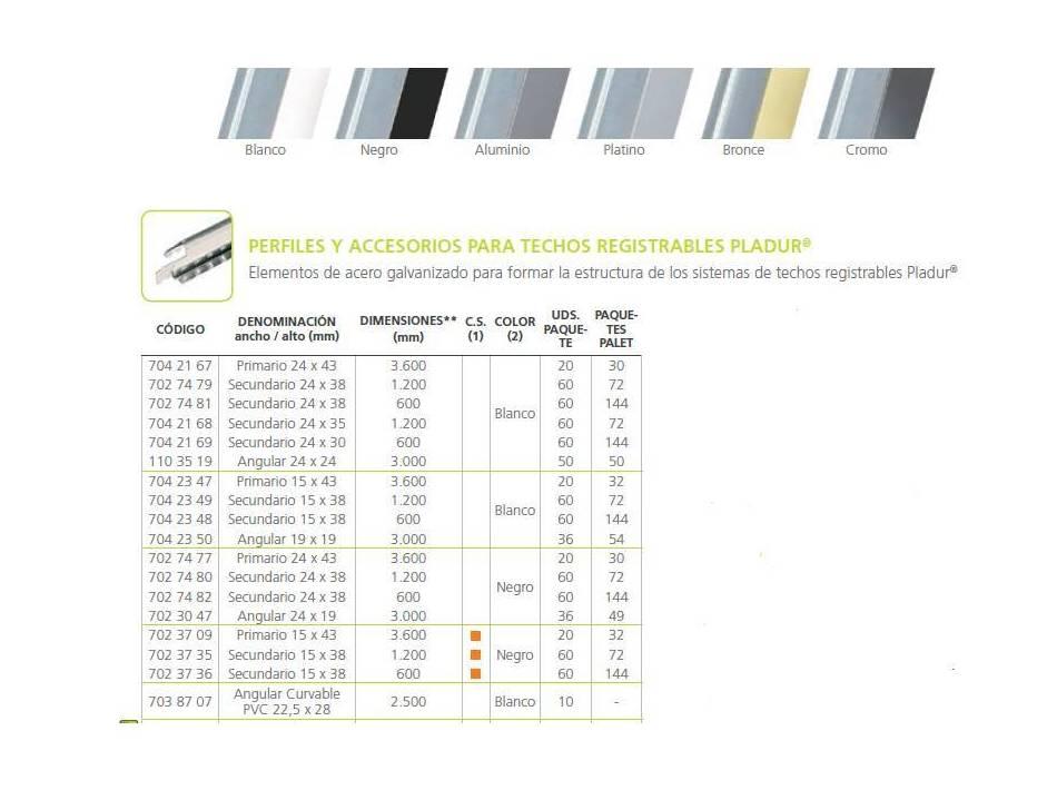 Perfilería para techos desmontables.: Materiales - Distribuciones de AISLAMIENTOS LORSAN