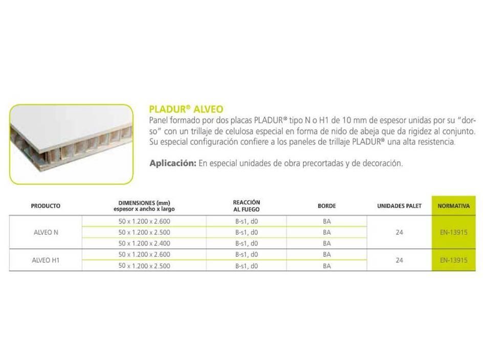 Pladur Alveo: Materiales - Distribuciones de AISLAMIENTOS LORSAN