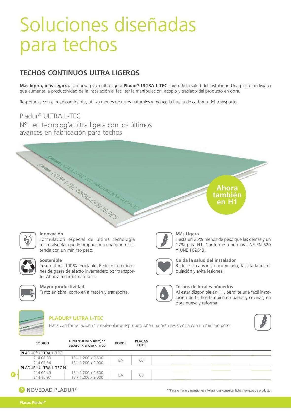 Ultra L-Tec: Materiales - Distribuciones de AISLAMIENTOS LORSAN