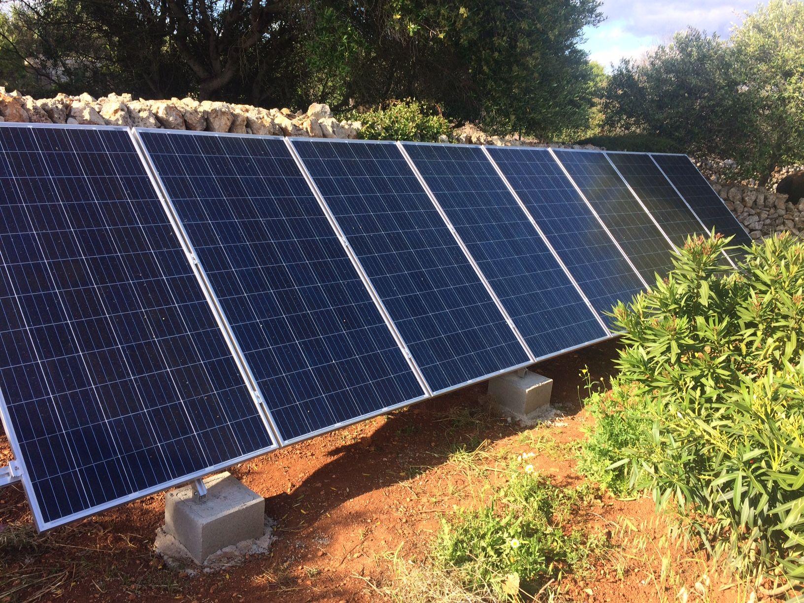 Instalaciones fotovoltáicas en Menorca