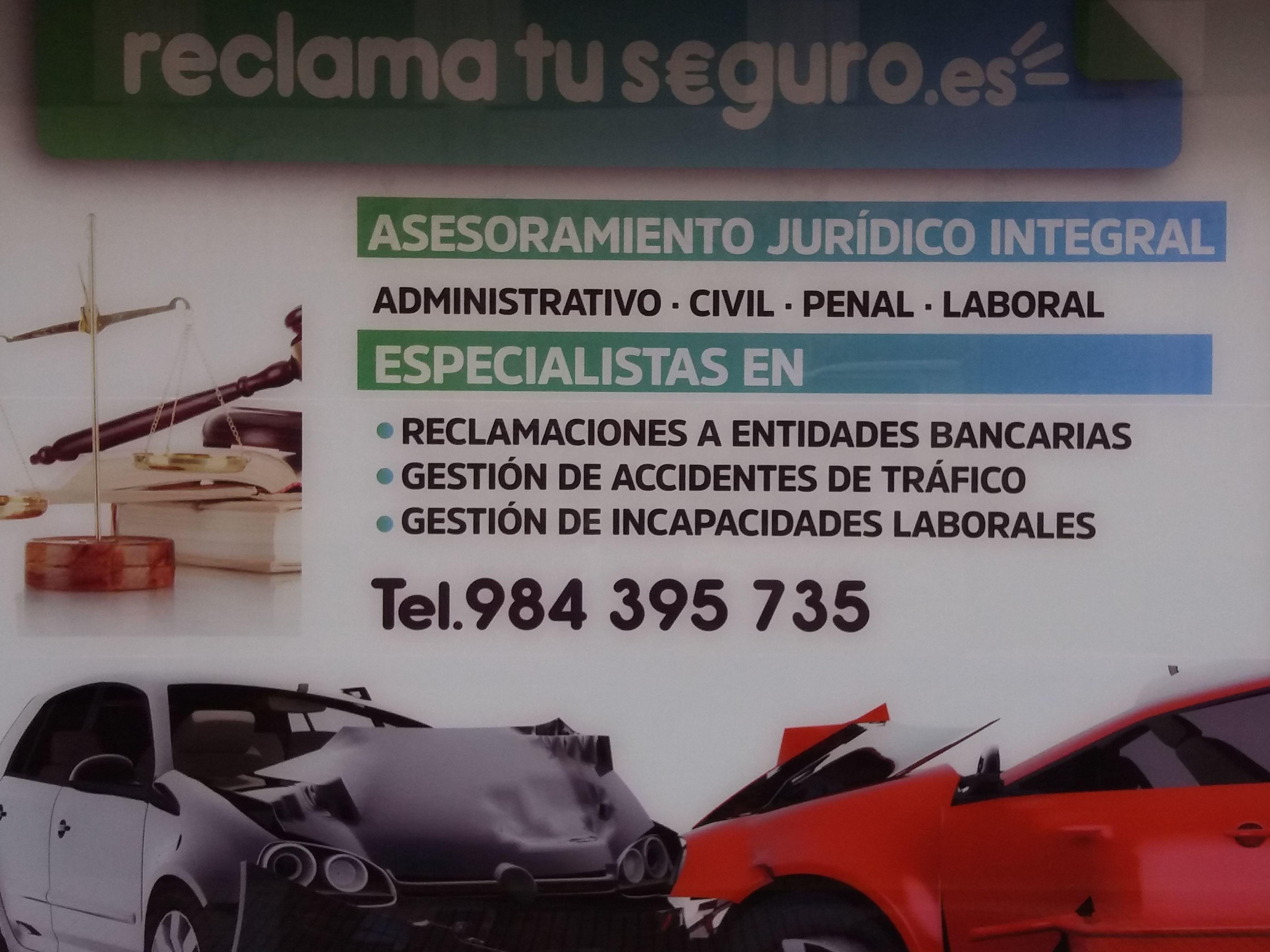 Foto 1 de Reclamación seguros en Gijón/Xixón | Reclamación Accidentes Asturias