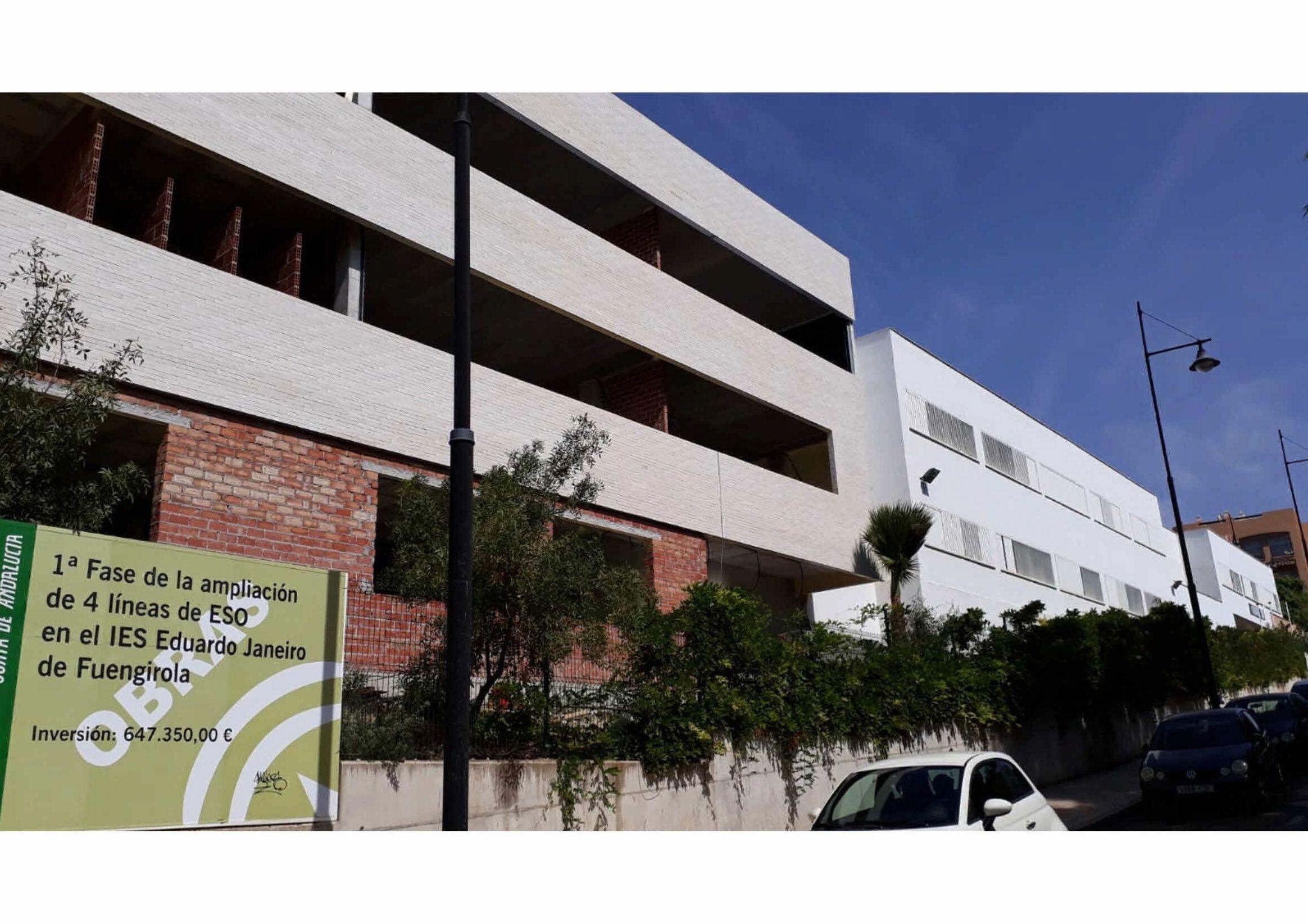 Ejecución de la Instalación Eléctrica, Telecomunicaciones y Especiales de la 1ª Fase del IES Eduardo Janeiro de Fuengirola.