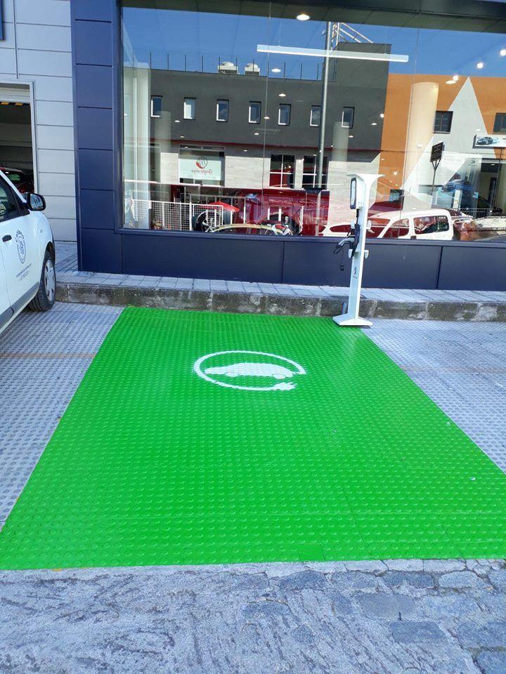 Puntos de recarga para vehículos eléctricos en Jaén