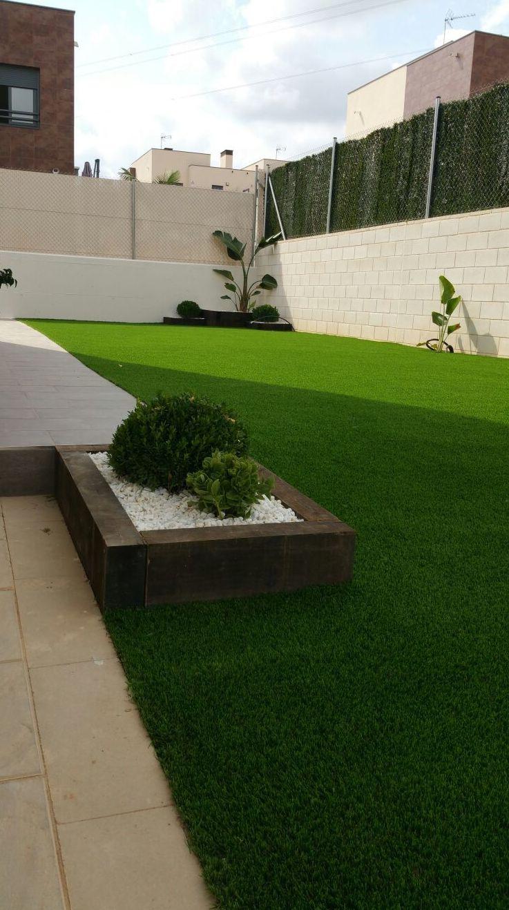 Proyecto paisajiamo despues en jardín particular en Valencia