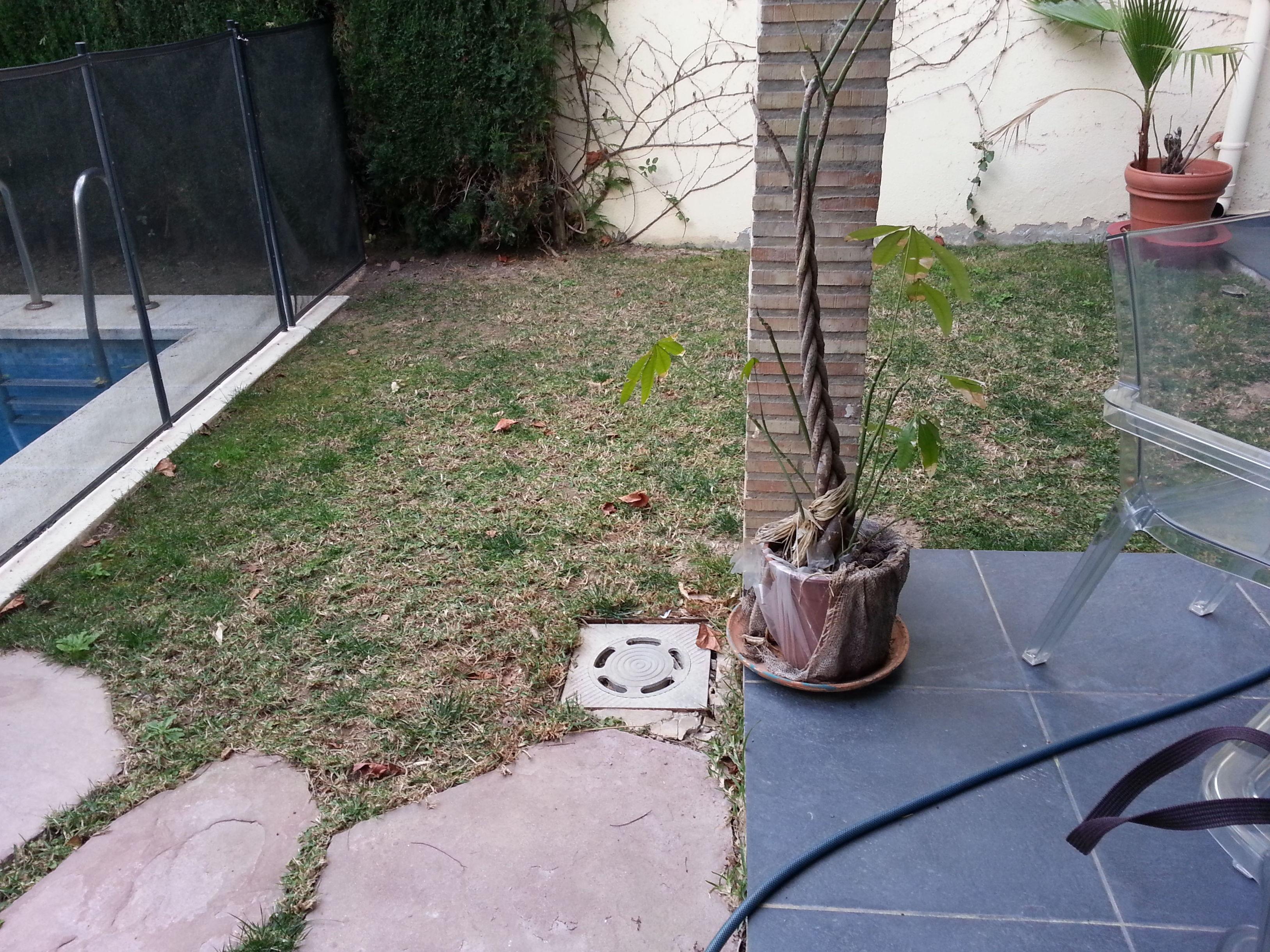 Proyecto Ches Pa el antes en jardín particular en Valencia con césped artificial