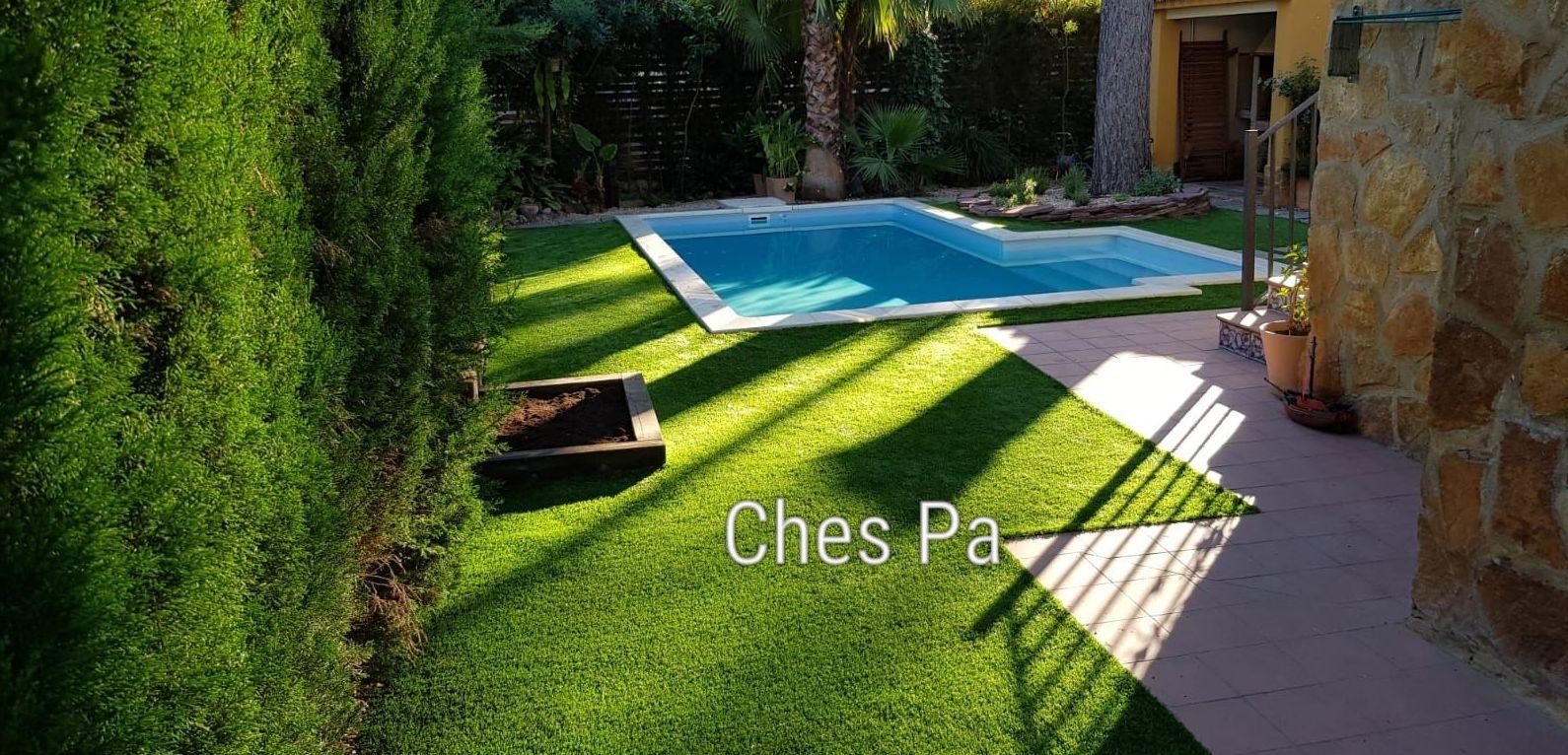 Proyecto paisajismo con césped artificial en Valencia