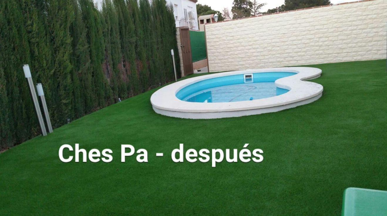 Instalación césped artificial en Valencia