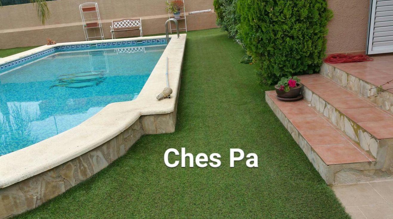 Mantenimiento Ches Pa en jardín instalado hace años