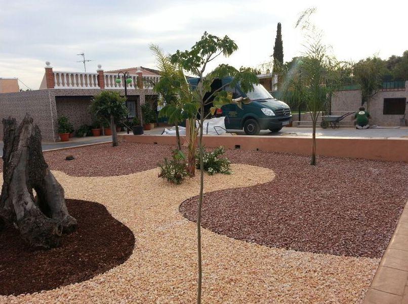 Proyecto Ches Pa con áridos decorativos