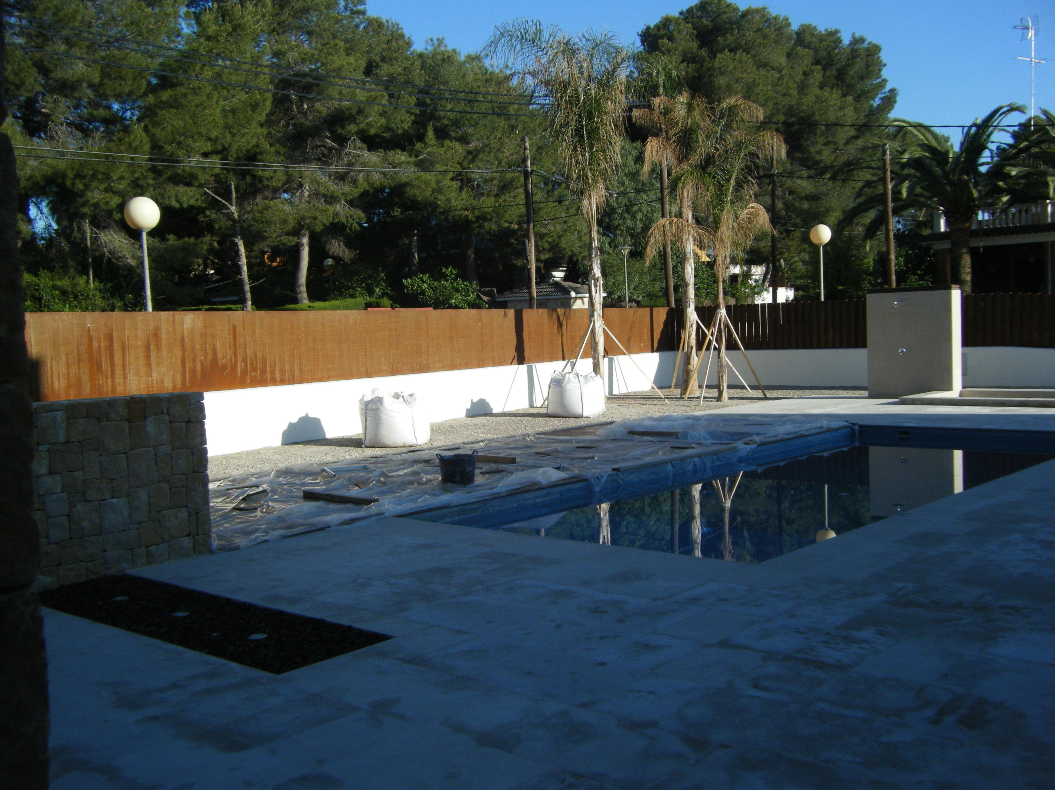 Proyecto paisajismo Ches Pa en jardín, Valencia . Antes.