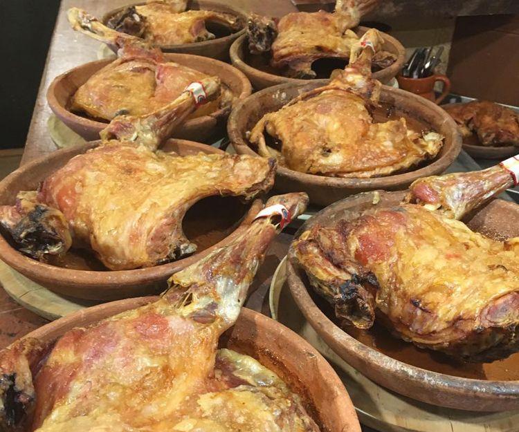 Cordero asado en Segovia