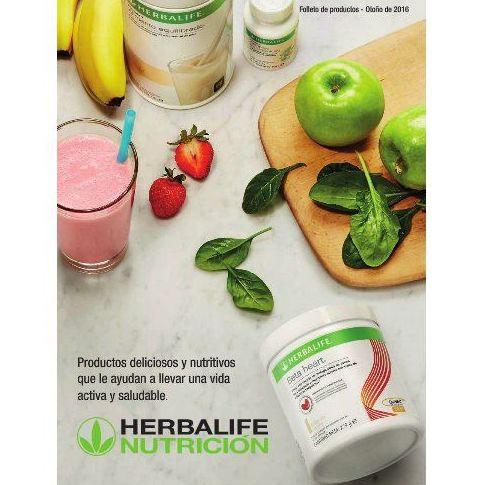 Información nutricional y catálogo de productos