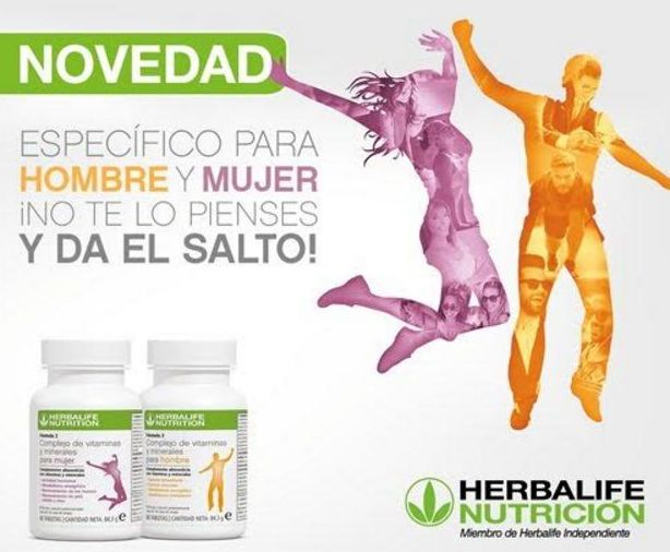 Novedad: vitaminas específicas para hombre y mujer