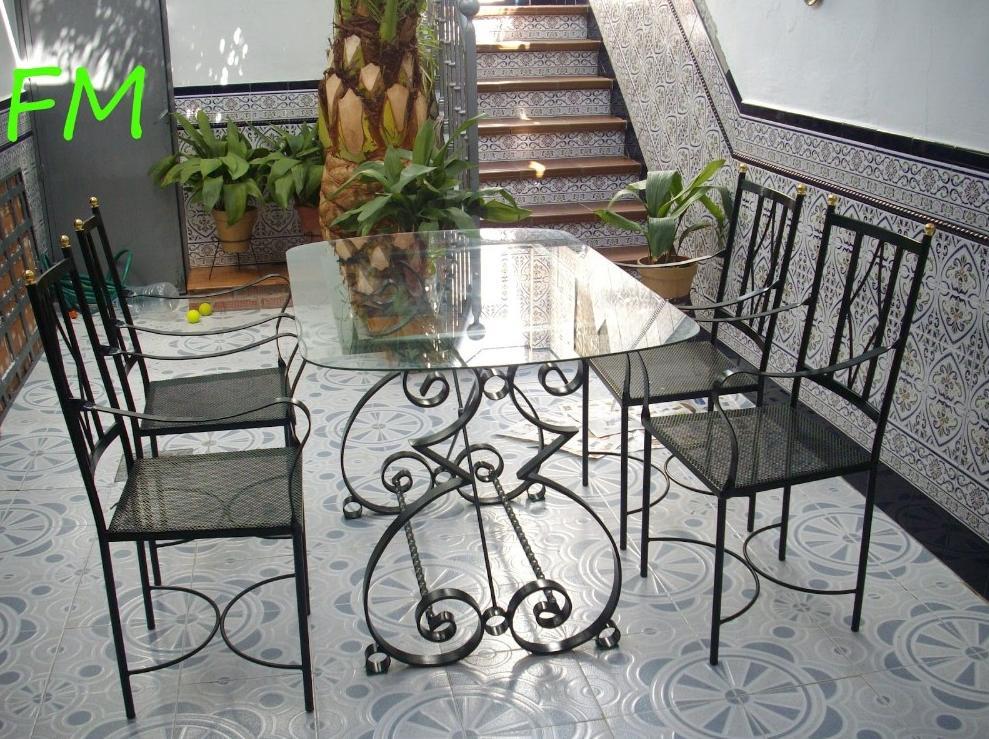 Mesa central Jardín: Catálogo de muebles de forja de Forja Manuel Jiménez