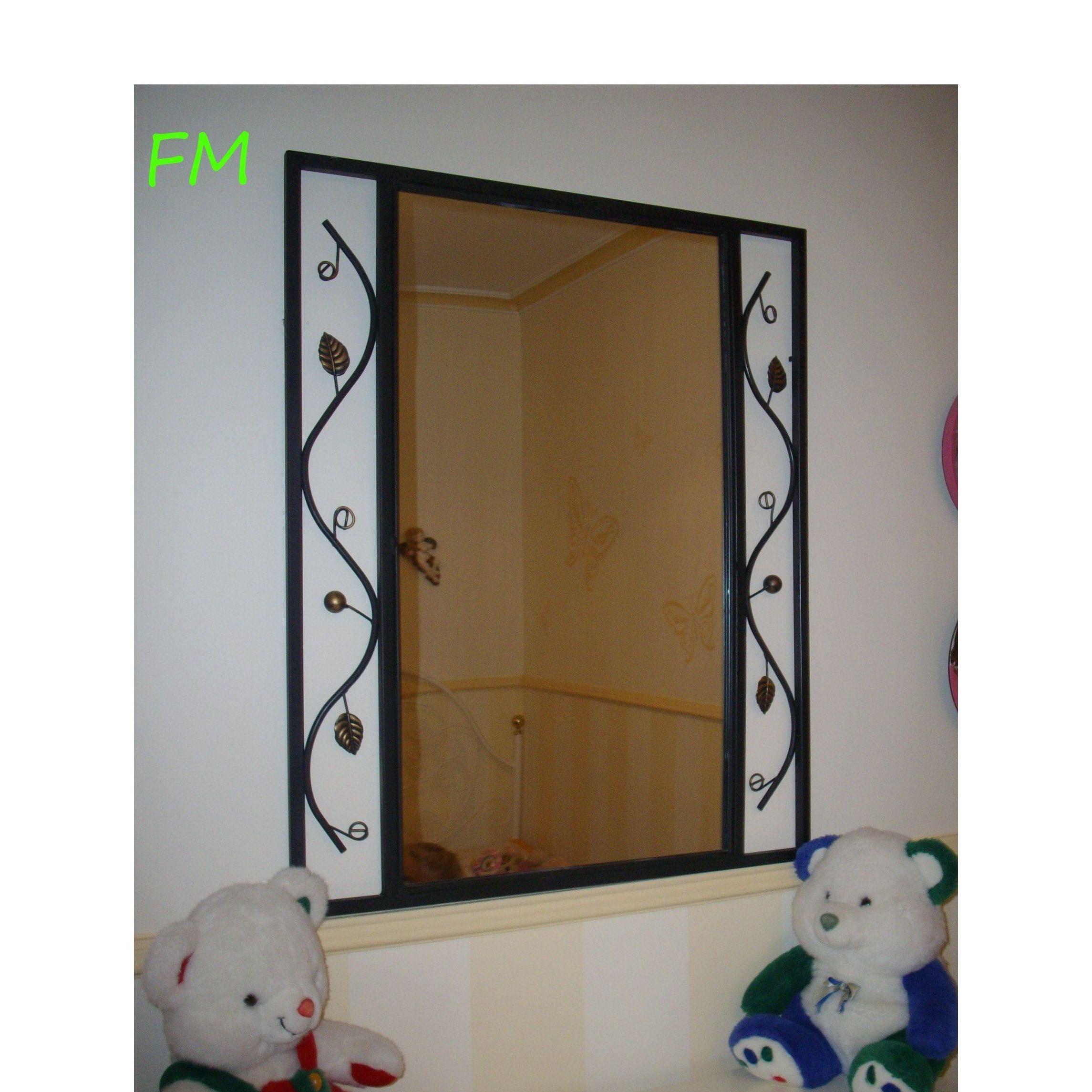 Espejo Negro Margarita: Catálogo de muebles de forja de Forja Manuel Jiménez