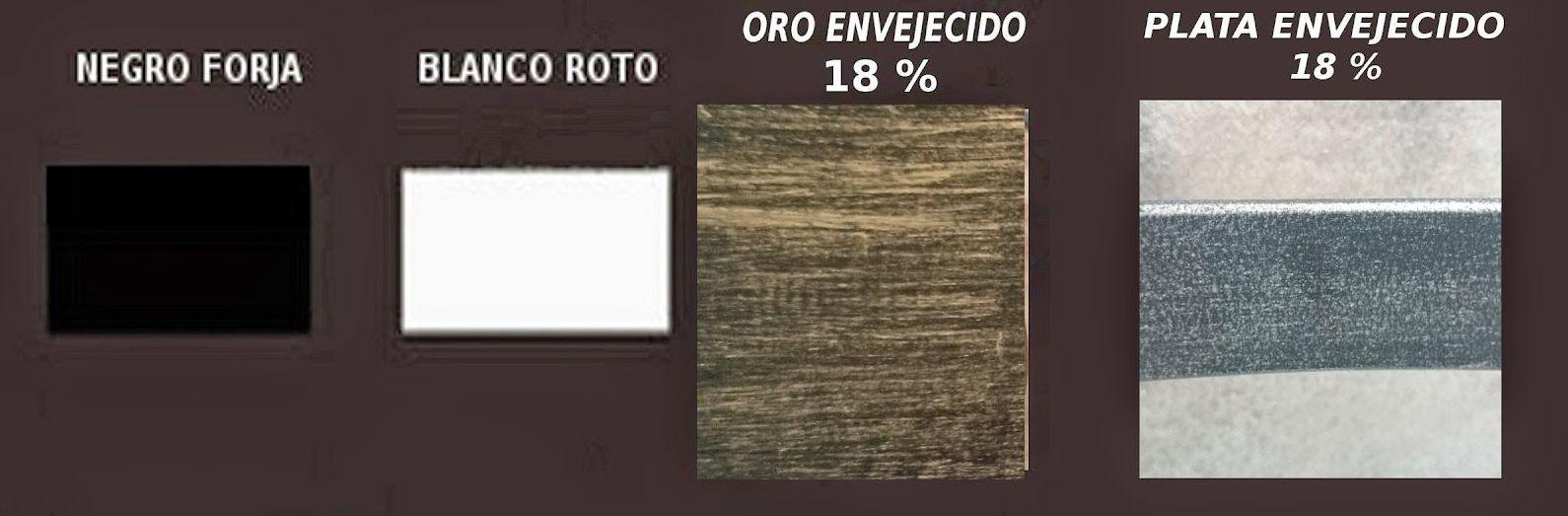 Colores estandar forja: Catálogo de muebles de forja de Forja Manuel Jiménez