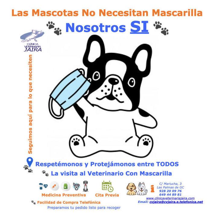 Las Mascotas No Necesitan Mascarilla                        Nosotros SI