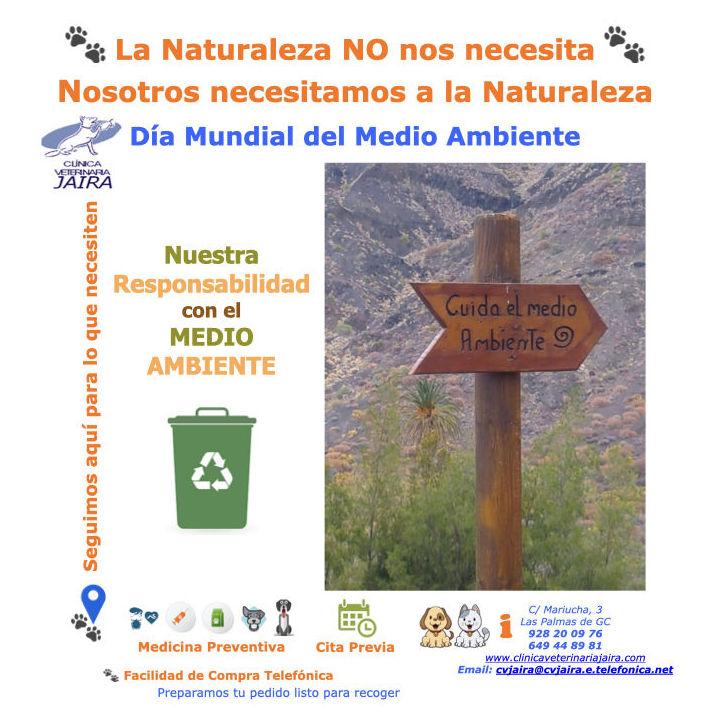 La Naturaleza NO nos necesita Nosotros necesitamos a la Naturaleza