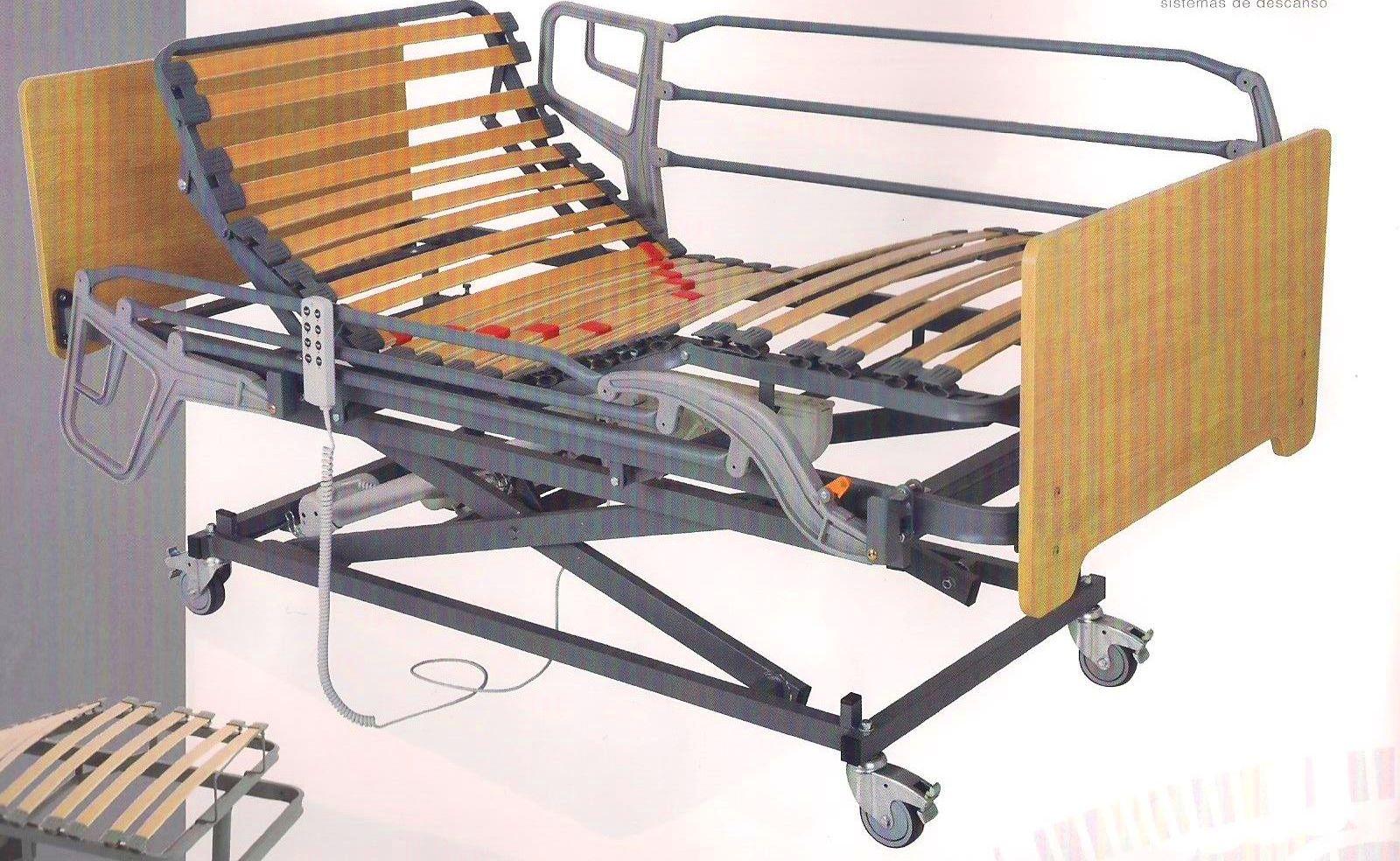 Cama Electrica Geriatrica Con Carro Elevador