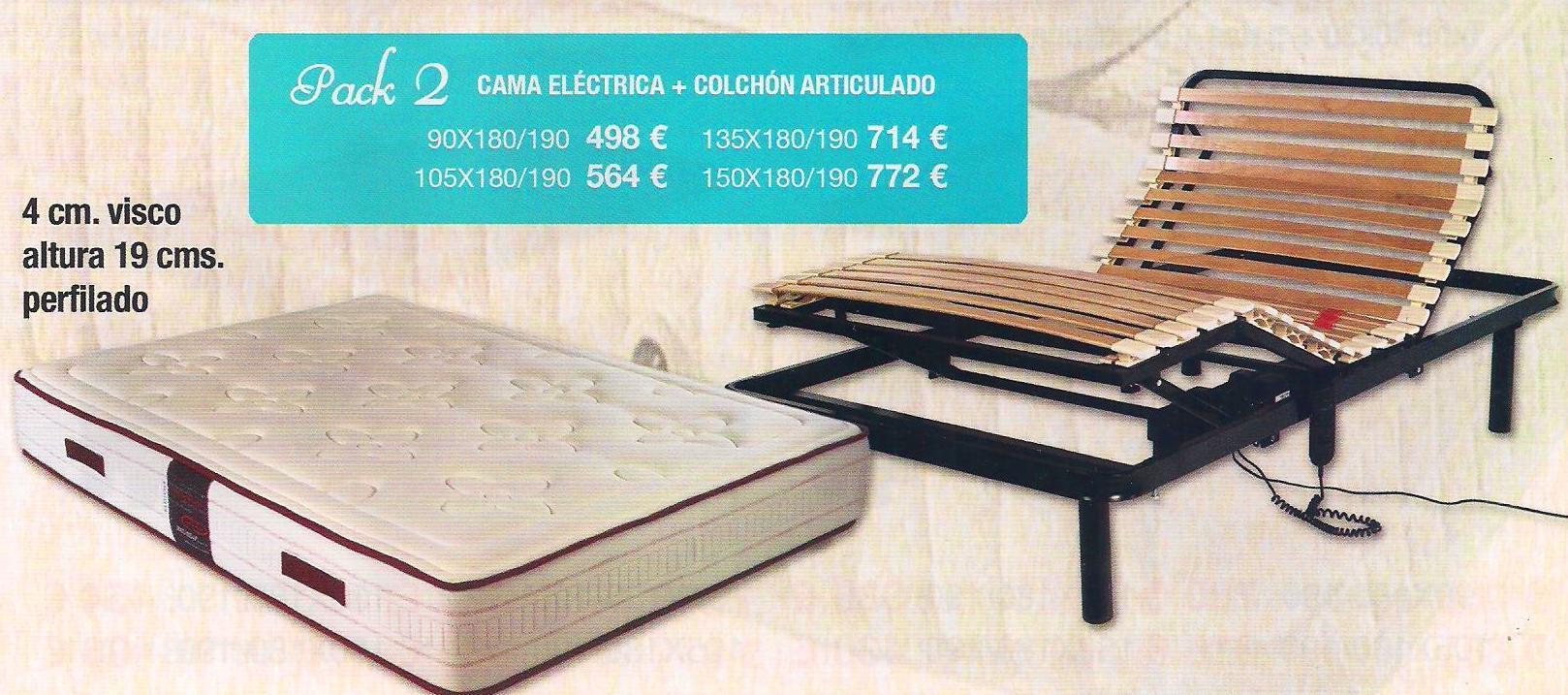 Pack Electrico + Colchon Viscoelastica
