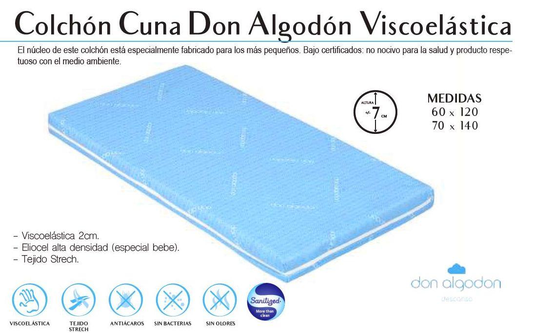Colchon De Cuna Viscoelastico Don Algodon