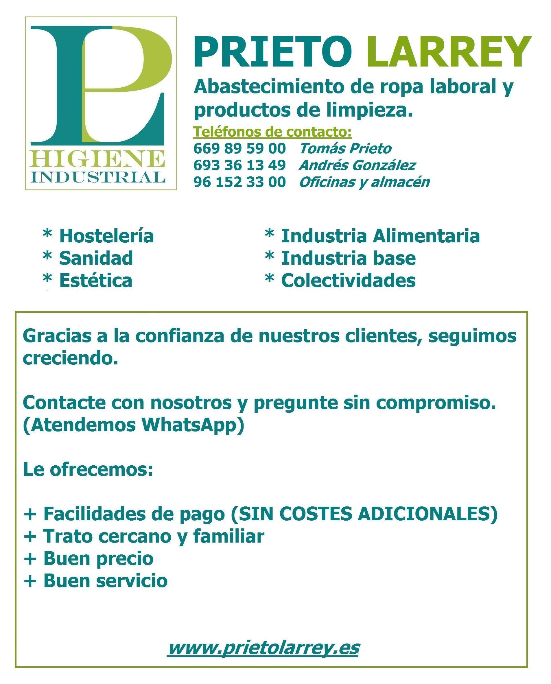 Foto 4 de Fabricación y distribución de artículos de limpieza en Meliana | Prieto Larrey