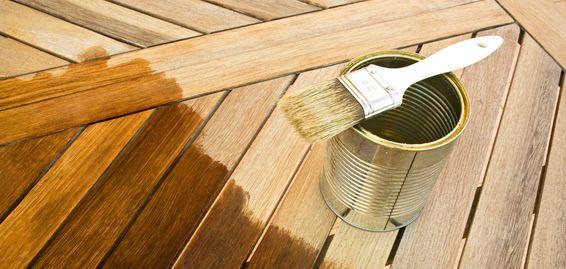 Forrado de madera para patios