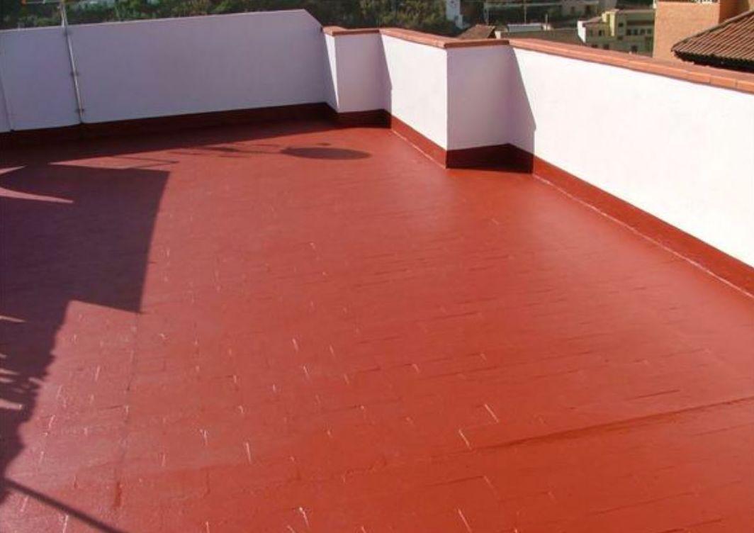 terraza impermeabilizada con caucho y fibra de vidrio